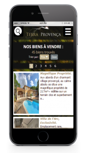 site web immobilier mobile friendly