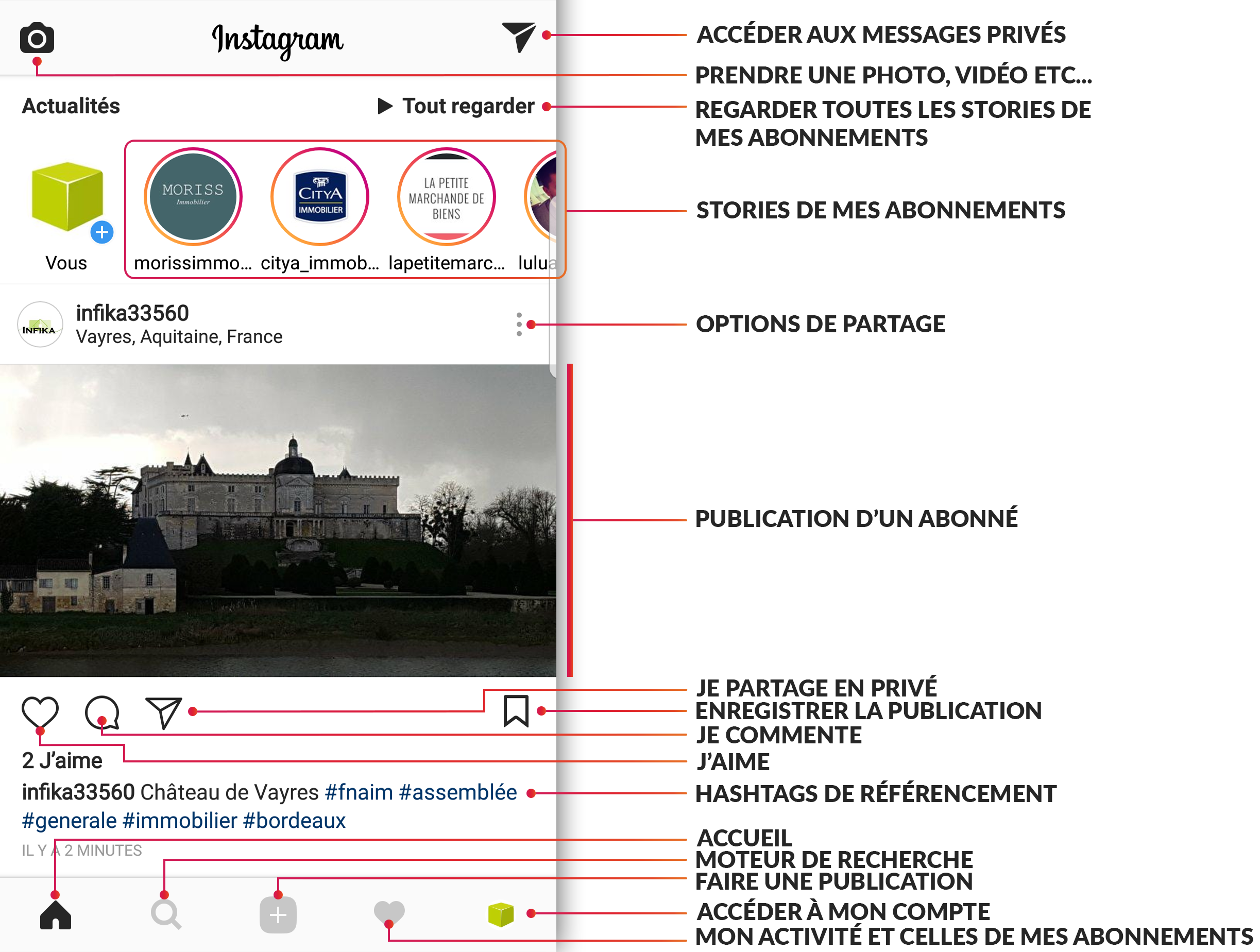 page accueil instagram